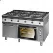 Kuchnia gazowa 6-palnikowa z piekarnikiem 900.KG-6/PE/T