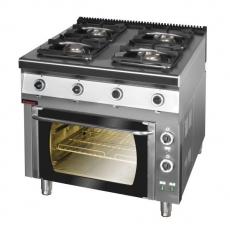 Kuchnia gazowa 4-palnikowa z piekarnikiem el.   KROMET 900.KG-4PE/1T<br />model: 900.KG-4PE/1T<br />producent: Kromet