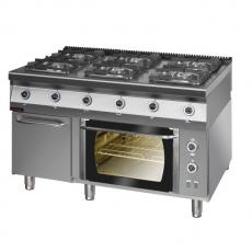Kuchnia gazowa 6-palnikowa z piekarnikiem el. | KROMET 900.KG-6/PE/1T/SD<br />model: 900.KG-6/PE/1T/SD<br />producent: Kromet