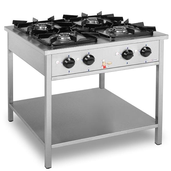 Kuchnia gastronomiczna gazowa 4 palnikowa  EGAZ KG 144 KG 144 -> Kuchnia Gazowa Gastronomiczna Używana