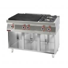 Kuchnia gastronomiczna gazowa 2-palnikowa z płytą grzewczą | KROMET 700.KG-2/I-800.S<br />model: 700.KG-2/I-800.S<br />producent: Kromet