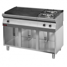 Kuchnia gastronomiczna gazowa 2-palnikowa z płytą grzewczą   KROMET 700.KG-2/I-800.S<br />model: 700.KG-2/I-800.S<br />producent: Kromet