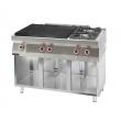 Kuchnia gastronomiczna gazowa 2-palnikowa z płytą grzewczą   KROMET 700.KG-2/I-800.S - 700.KG-2/I-800.S