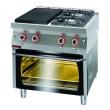 Kuchnia gastronomiczna gazowa z piekarnikiem gaz. | KROMET 700.KG-2/I-400/PG-2 - 700.KG-2/I-400/PG-2