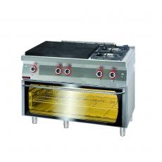 Kuchnia gastronomiczna gazowa z piekarnikiem el. | KROMET 700.KG-2/I-800/PE-3<br />model: 700.KG-2/I-800/PE-3<br />producent: Kromet