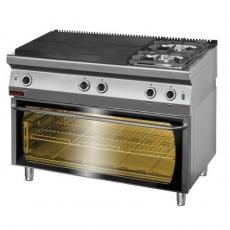 Kuchnia gastronomiczna gazowa z piekarnikiem el.   KROMET 700.KG-2/I-800/PE-3<br />model: 700.KG-2/I-800/PE-3<br />producent: Kromet
