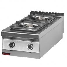 Kuchnia gastronomiczna gazowa 2-palnikowa | KROMET 900.KG-2<br />model: 900.KG-2<br />producent: Kromet