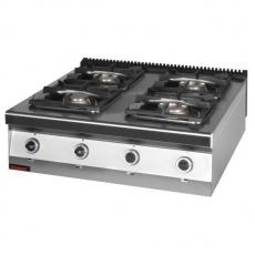 Kuchnia gastronomiczna gazowa 4-palnikowa | KROMET 900.KG-4<br />model: 900.KG-4<br />producent: Kromet