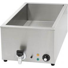 Bemar elektryczny stołowy z kranem<br />model: 741203<br />producent: Stalgast