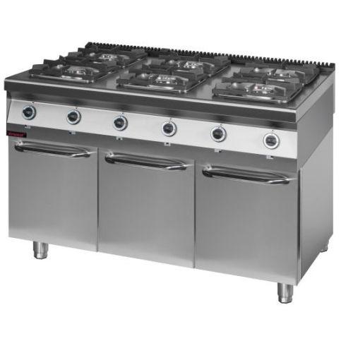 Kuchnia gazowa 6 palnikowa 900 KG 6 S D