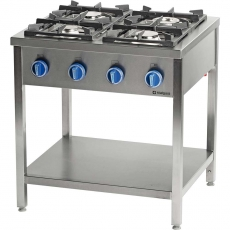Kuchnia gastronomiczna gazowa 4-palnikowa<br />model: 979521<br />producent: Stalgast