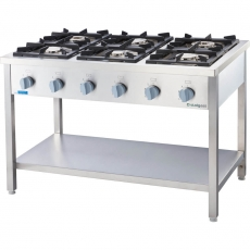 Kuchnia gastronomiczna gazowa 6-palnikowa<br />model: 979611<br />producent: Stalgast