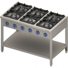 Kuchnia gastronomiczna gazowa 6-palnikowa<br />model: 979623<br />producent: Stalgast
