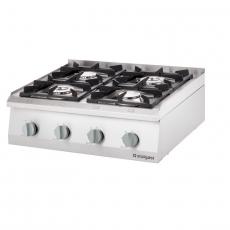 Kuchnia gastronomiczna gazowa 4-palnikowa<br />model: 9706310<br />producent: Stalgast