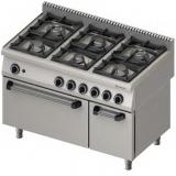 Kuchnia gastronomiczna gazowa 6-palnikowa z piekarnikiem 971111
