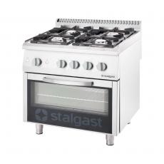 Kuchnia gastronomiczna gazowa 4-palnikowa z piekarnikiem<br />model: 9710110<br />producent: Stalgast