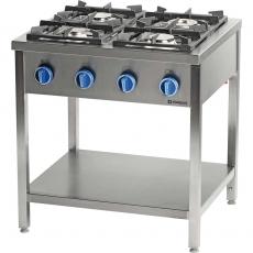 Kuchnia gastronomiczna gazowa 4-palnikowa<br />model: 979511<br />producent: Stalgast