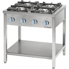 Kuchnia gastronomiczna gazowa 4-palnikowa<br />model: 979513<br />producent: Stalgast