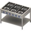 Kuchnia gastronomiczna gazowa 6-palnikowa / model - 999611