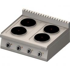 Kuchnia gastronomiczna elektryczna 4-płytowa<br />model: 970600<br />producent: Stalgast