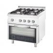 Kuchnia gastronomiczna gazowa 4-palnikowa z piekarnikiem 9710210