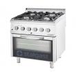 Kuchnia gastronomiczna gazowa 4-palnikowa z piekarnikiem / model - 9715110