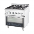 Kuchnia gastronomiczna gazowa 4-palnikowa z piekarnikiem / model - 9715310