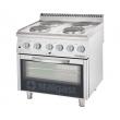 Kuchnia gastronomiczna elektryczna 4-płytowa z piekarnikiem 9715000