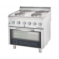 Kuchnia gastronomiczna elektryczna 4-płytowa z piekarnikiem<br />model: 9716000<br />producent: Stalgast