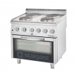 Kuchnia gastronomiczna elektryczna 4-płytowa z piekarnikiem 9716000