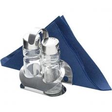 Zestaw do przypraw 2-elementowy z serwetnikiem<br />model: 362002<br />producent: Stalgast