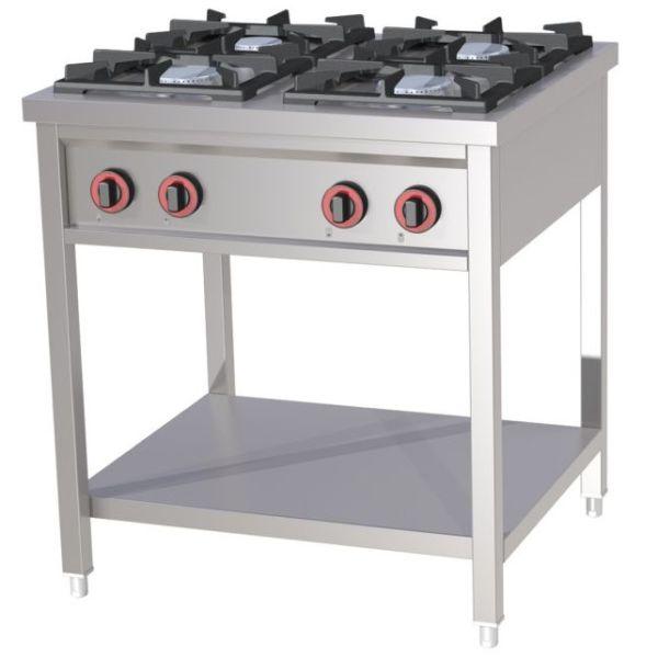Kuchnia gastronomiczna gazowa 4 palnikowa SPB 70 80G -> Kuchnia Gazowa Moc