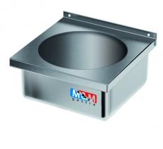 Umywalka ze stali nierdzewnej zabudowana<br />model: E2620/400/400/200-W<br />producent: M&M Gastro