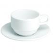Filiżanka porcelanowa sztaplowana ze spodkiem DESIRE 63353