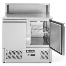 Stół chłodniczy 2-drzwiowy do pizzy z nadstawką<br />model: 232859<br />producent: Hendi