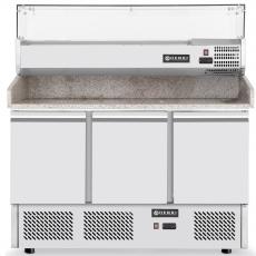 Stół chłodniczy 3-drzwiowy do pizzy z nadstawką<br />model: 232033<br />producent: Hendi