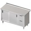 Stół roboczy nierdzewny z blokiem szuflad i szafką 980357190