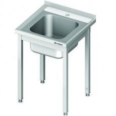 Stół nierdzewny ze zlewem 1-komorowym<br />model: 980626060S<br />producent: Stalgast