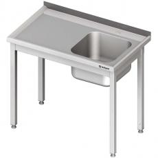 Stół nierdzewny ze zlewem 1-komorowym<br />model: 980646080S<br />producent: Stalgast