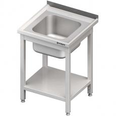 Stół nierdzewny ze zlewem 1-komorowym i półką dolną<br />model: 980687060S<br />producent: Stalgast