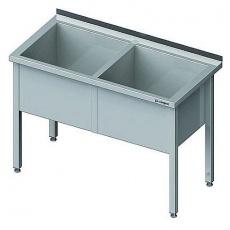 Basen nierdzewny 2-komorowy<br />model: 981376140<br />producent: Stalgast