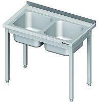 Stół nierdzewny ze zlewem 2-komorowym<br />model: 980767100S<br />producent: Stalgast