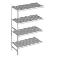 Regał aluminiowo-polietylenowy narożny<br />model: zestaw nr 374<br />producent: RM Gastro