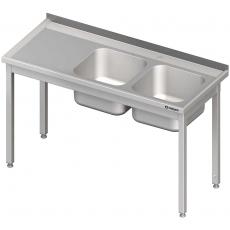 Stół nierdzewny ze zlewem 2-komorowym<br />model: 980776120S<br />producent: Stalgast