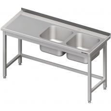 Stół nierdzewny ze zlewem 2-komorowym<br />model: 980786170<br />producent: Stalgast