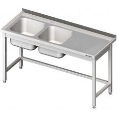 Stół nierdzewny ze zlewem 2-komorowym<br />model: 980806190<br />producent: Stalgast