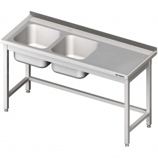 Stół nierdzewny ze zlewem 2-komorowym<br />model: 980807180<br />producent: Stalgast