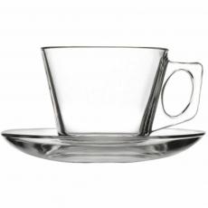 Filiżanka do kawy ze spodkiem<br />model: 400194<br />producent: Pasabahce