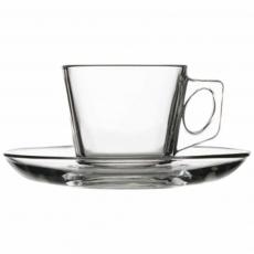 Filiżanka do kawy ze spodkiem<br />model: 400195<br />producent: Pasabahce
