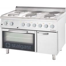 Kuchnia elektryczna 6-płytowa z piekarnikiem elektrycznym<br />model: 9717000<br />producent: Stalgast